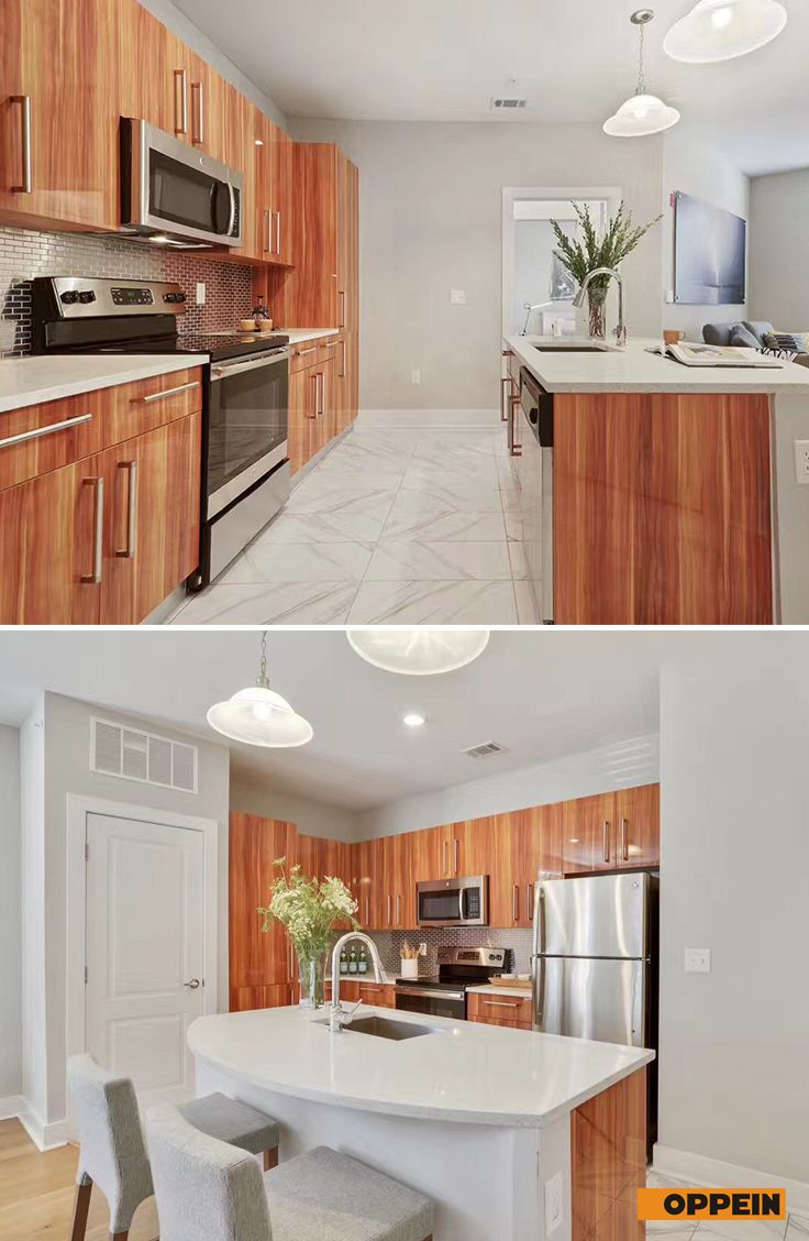 Find The Nice Kitchen Cabinet In Wood Warmth With Island For Both