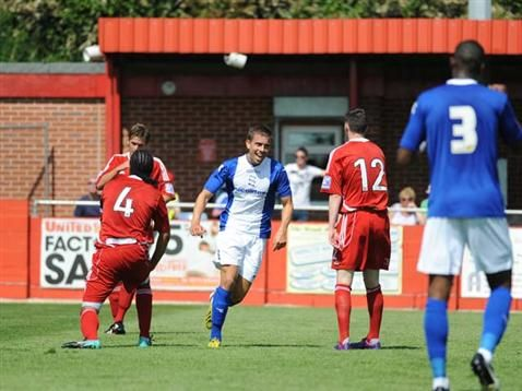 Olly Lee in action during pre-season. July 2013. #BCFC