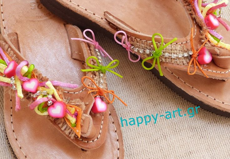 "for a young lady who want a ""happy"" sandal www.happy-art.gr"