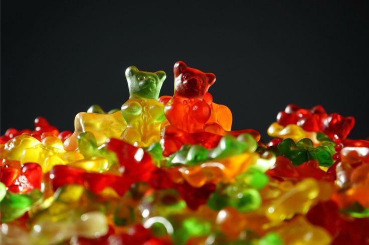 #eten #geel #groen #gummibeer #kleuren #rood #snoep #zoet
