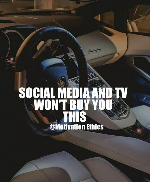 motivation quote social media wont buy you a lamborghini tv hardwork nodaysoff quotes