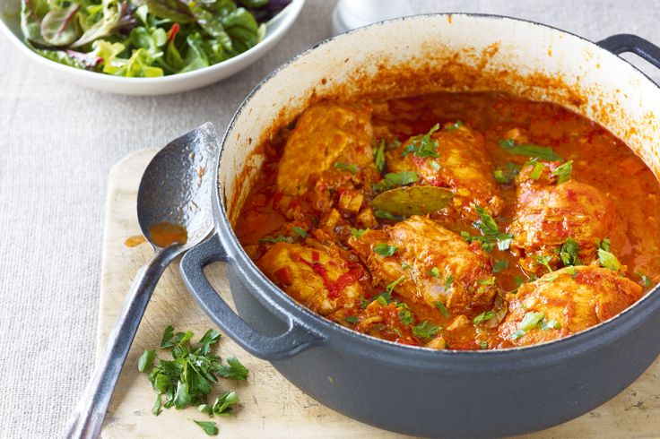 Chicken Basque - Savour the rich flavours of Spanish chicken with smoked ham, chilli and paprika.