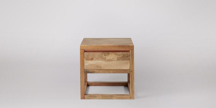 Swoon Editions Side table, Contemporary style in Mango Wood and Copper - £169
