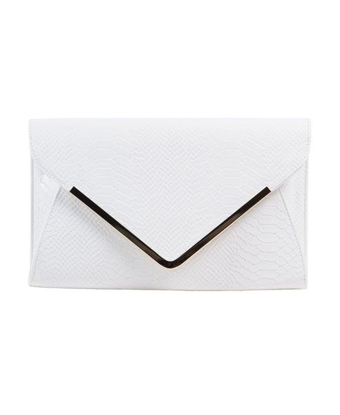 Elegant white clutch | Minimal + Chic | @CO DE + / F_ORM
