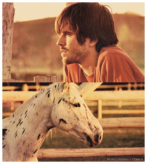 Ty and Ghost. That horse appears throughout many of the episodes. Heartland