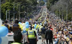 TWA-0014033 © WestPix AFL Grand Final 2015  West Coast Eagles versus Hawthorn. The Grand Final parade through the streets of Melbourne. Picture: Ian Munro The West Australian 02/10/2015