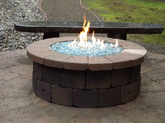 Ordinaire Great Backyard Fire Pit Only Downside Is We Have Small Kids And Animals So  Maybe We Will Opt For A Raised Fire Feature | For The Home | Pinterest |  Glass ...
