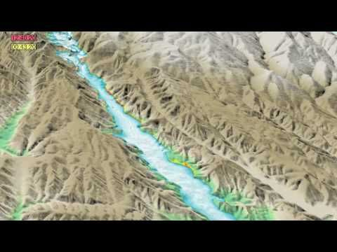 Uploaded on Aug 2, 2010This is a physics-based simulation of the 1928 St. Francis Dam  failure and flood. In combination with field observations, physics-based simulations of past disasters help scientists and engineers mitigate the negative consequences of similar events in the future. In depth analysis of dam breaking in 1924 .