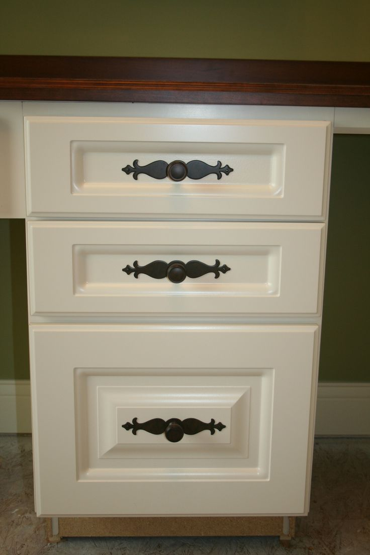 Top Knobs Cabinet Hardware With Decorative Backplate On Office Cabinetry