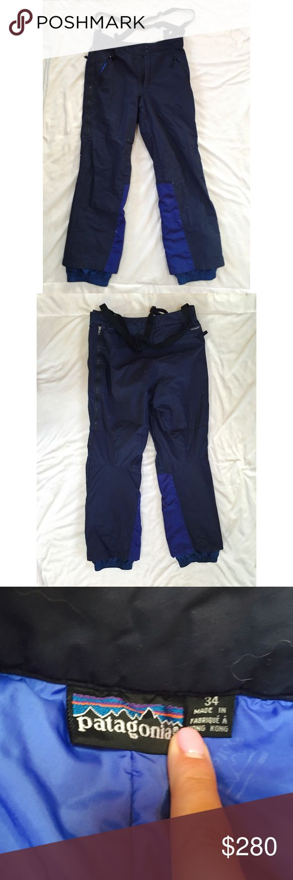 ❄️Patagonia overall bib snow pants❄️ Patagonia overall ski pants. These are great for skiing and snowboarding. Have been used hut are in great condition. These great quality pants will make a great addition to your winter wardrobe! Patagonia Pants Sweatpants & Joggers