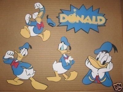 4 Donald Duck diecuts and 1 titlecricut by cocacolabear1980, $4.00