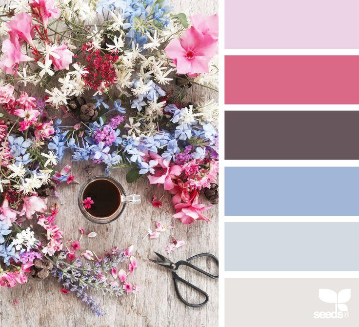 { gathered hues } image via: @clangart  #color #palette #colorpalette #pallet #colour #colourpalette #design #seeds #designseeds
