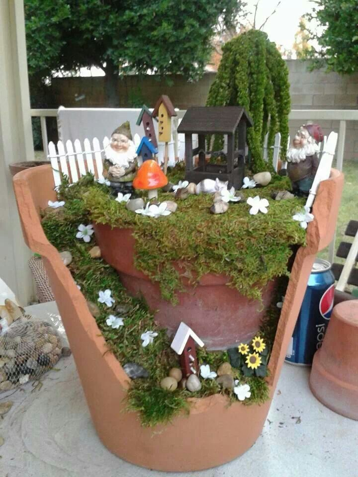 Broken pot garden #2