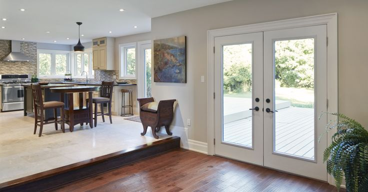 Double doors are a beautiful way to bring the outdoors in.  View more inspiration here: http://www.casabellawindows.ca/project-gallery/