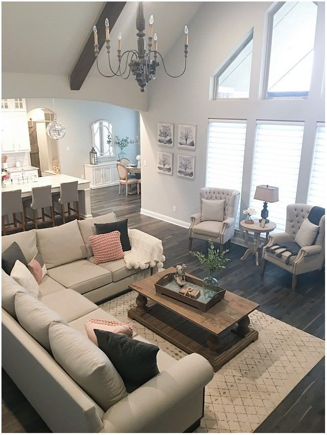 Small House Living Room Painted Repose Gray In 2020 Farm House Living Room Trendy Living Rooms French Country Living Room #repose #grey #living #room