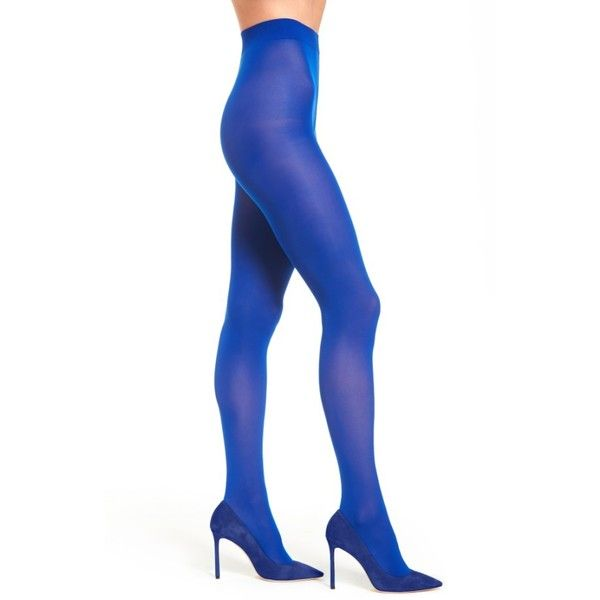 Women's Sarah Borghi Vel 40 Tights (1.655 RUB) ❤ liked on Polyvore featuring intimates, hosiery, tights, royal blue, nylon tights, nylon hosiery, nylon pantyhose, nylon stockings and royal blue tights