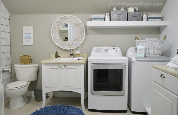 2perfection Decor Basement Coastal Bathroom Reveal: 25+ Best Ideas About Laundry Bathroom Combo On Pinterest