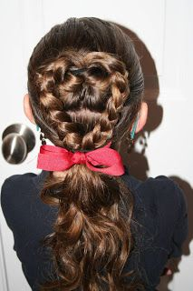 Valentine's Day Hairstyle: Flip-Braided Heart | Hairstyles, Braids and Hair Style Ideas | Cute Girls Hairstyles