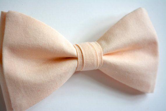Mens bow tiepeach blush bow tie for menpeach by ClipABowTie