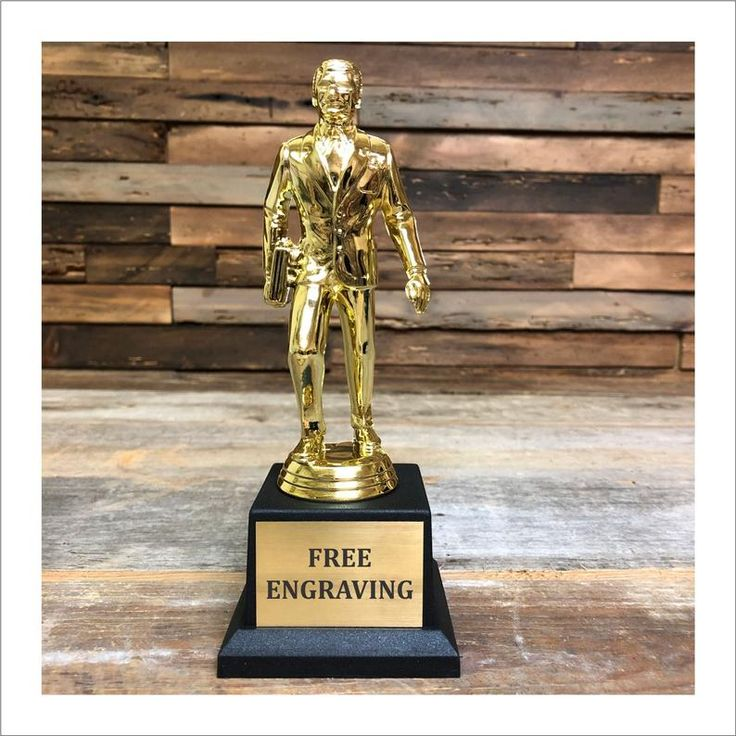 Dundie award trophy the office tv show best salesman