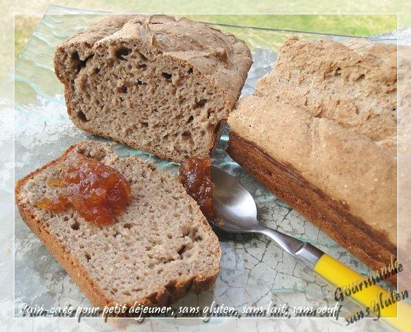 gourmande sans gluten pain cake pour petit d jeuner sans. Black Bedroom Furniture Sets. Home Design Ideas
