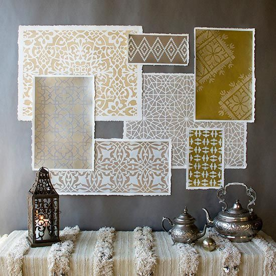 How to Stencil Moroccan Stencils in Metallics for Amazing Wall Art :: Hometalk