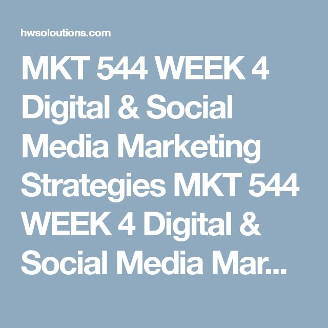 MKT 544 WEEK 4 Digital & Social Media Marketing Strategies MKT 544 WEEK 4 Digital & Social Media Marketing Strategies MKT 544 WEEK 4 Digital & Social Media Marketing Strategies Select one of the following brands to research:  Wholly Guacamole Sonic Starbucks Coca-Cola® Lucky Brand Access each of the social media pages for the brand you have selected (Facebook, Twitter, Instagram, etc.). Provide an assessment of the effectiveness of the social media sites:  number of fans, followers, and…