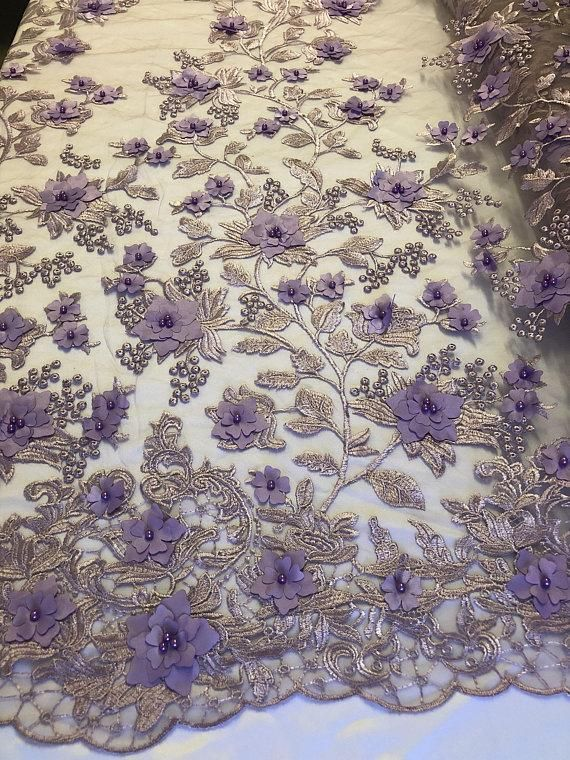 Beige Royal Blue Rose Floral Mesh Sequin Lace Fabric 51  52 Sold By The Yard