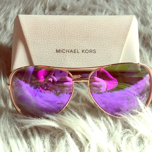 d18097216 Michael Kors Chelsea sunglasses Rose gold hardware with purple flash  lenses. Worn a handful of times. Comes with case Michael Kors Accessories  Sunglasses