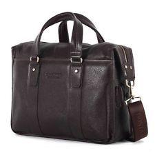 Genuine Leather Men's Briefcase Handbag Fashion Messenger Shoulder Laptop BAG