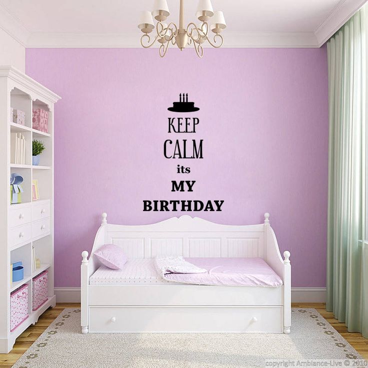 Stickers muraux 'Keep Calm' - Sticker Keep Calm its My Birthday | Ambiance-live.com