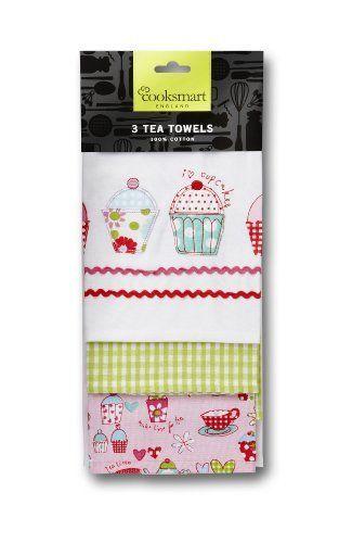 Cooksmart Tea Towels, Pack of 3, Cupcakes by Cooksmart, http://www.amazon.co.uk/dp/B0084Z5IYQ/ref=cm_sw_r_pi_dp_iiHtsb1RQXVJJ