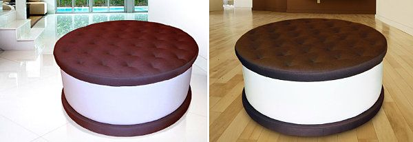 I might be hungry more often if I had this Ice Cream Sandwich Ottoman - Unusual Furniture Pieces: From Materials to Shapes