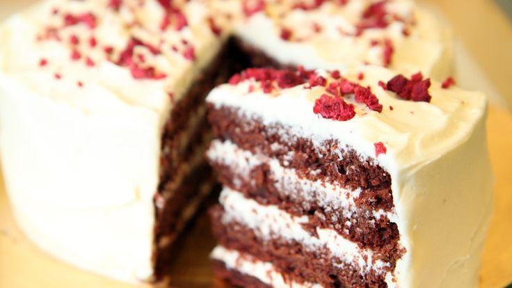 Sjokolade- og rødbetekake