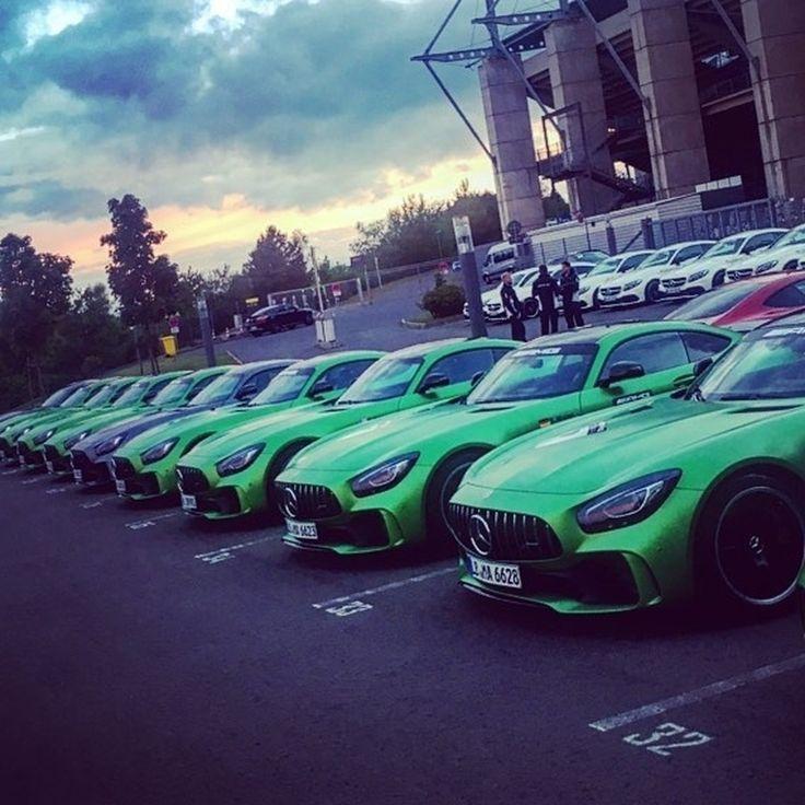 Dreamcar-Collection! Photo by @maximilian_goetz #luxury #lifestyle #cartastic #instacar #mercedes #amg #performance #dreamcar #power #racecar #sportcar [Mercedes-AMG GT R - Fuel consumption 11.4l/100 km | CO2 emission combined 259 g/km]