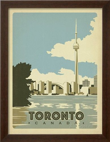 Toronto, Canada Poster by Anderson Design Group at AllPosters.com