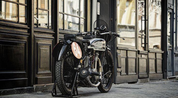 """Norton International M40 1937 """"ex-usine"""", à vendre chez Legend Motors Lille."""