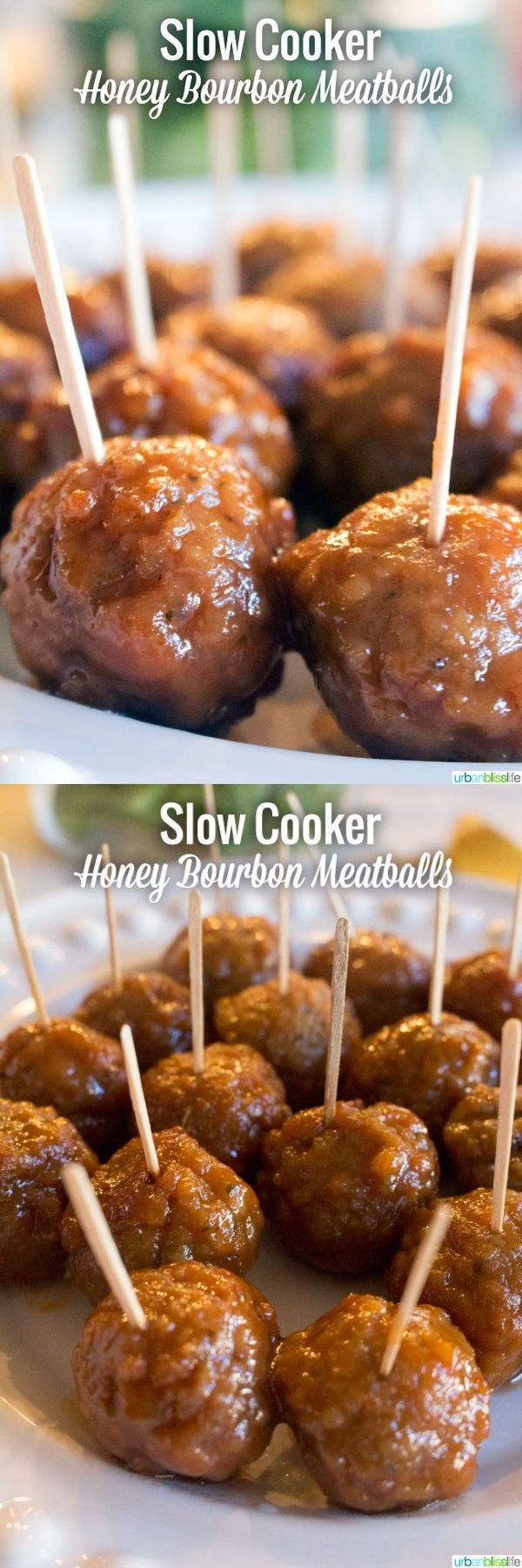 Slow Cooker Honey Bourbon Meatballs