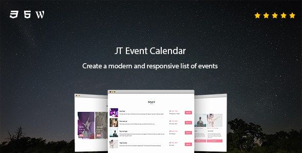 JT Event Calendar version 5.0.0