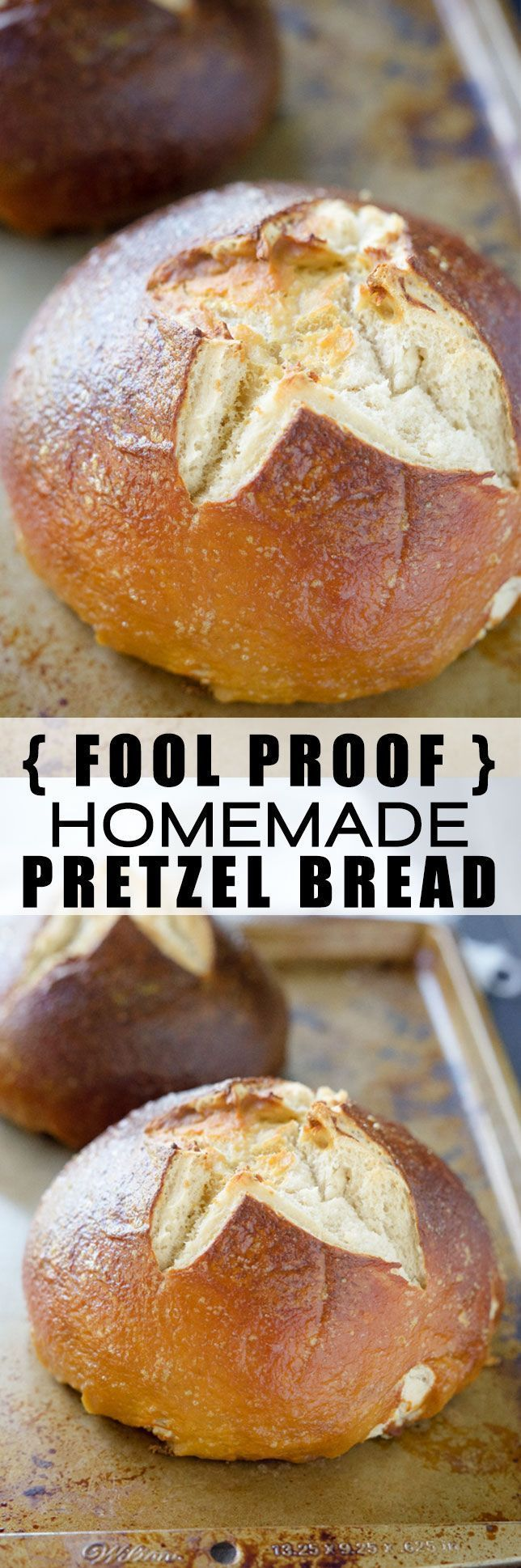 This Fool Proof Homemade Pretzel Bread has a salty and crispy crust ...