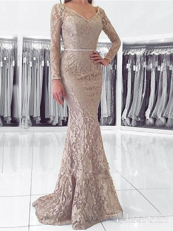 0a81ba1103 Long Sleeve Lace Mermaid Prom Dresses with Sleeves ARD1923 in 2019 ...