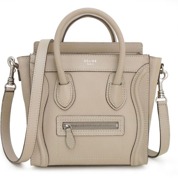 2012 new works with the shoulder of celine bag CELINE NANO... ($2,246) ❤ liked on Polyvore featuring bags, handbags, shoulder bags, sac, purses, celine, brown handbags, brown shoulder bag and brown purse