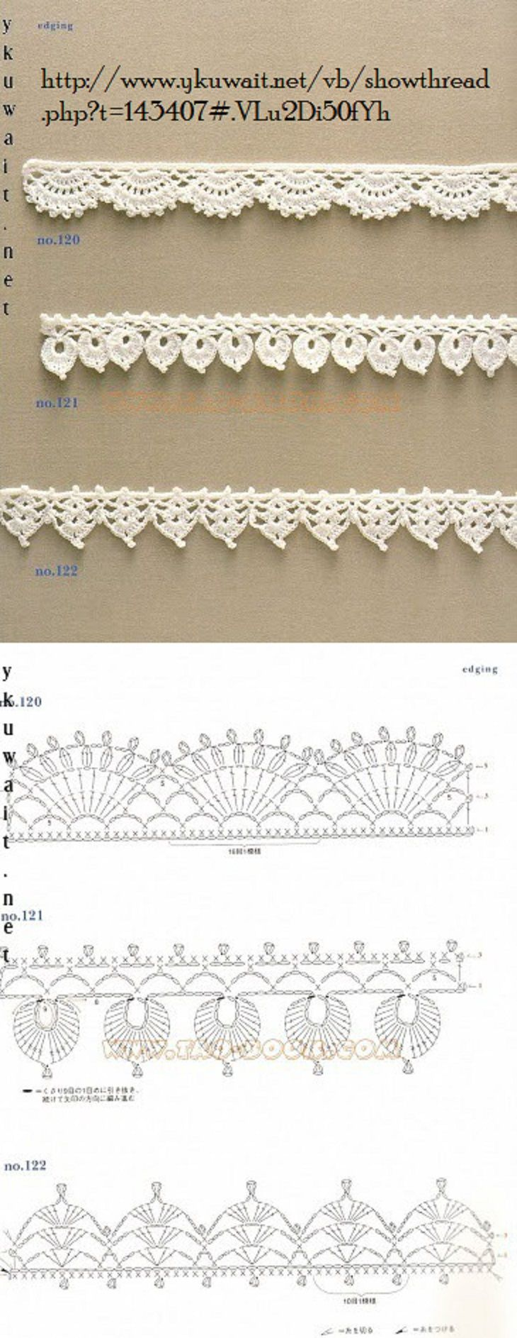 Crochet Lace Pattern For Edging : 893 best Crochet It -- Borders, Edging & Trims images on ...