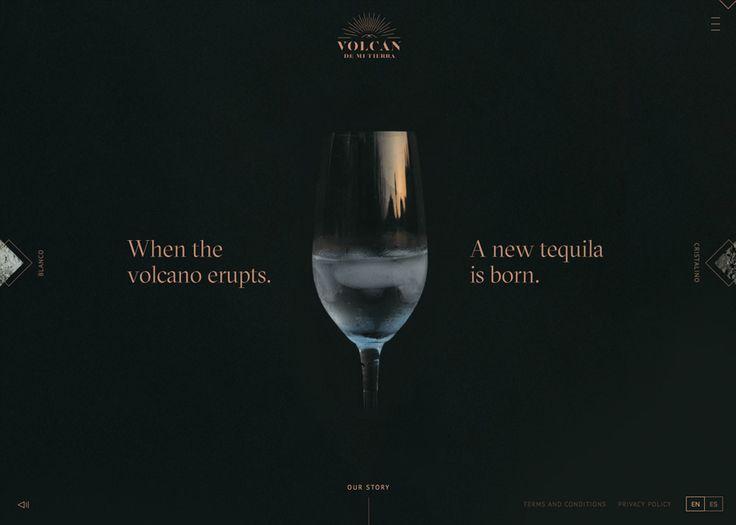 Volcán De Mi Tierra Tequila #webdesign