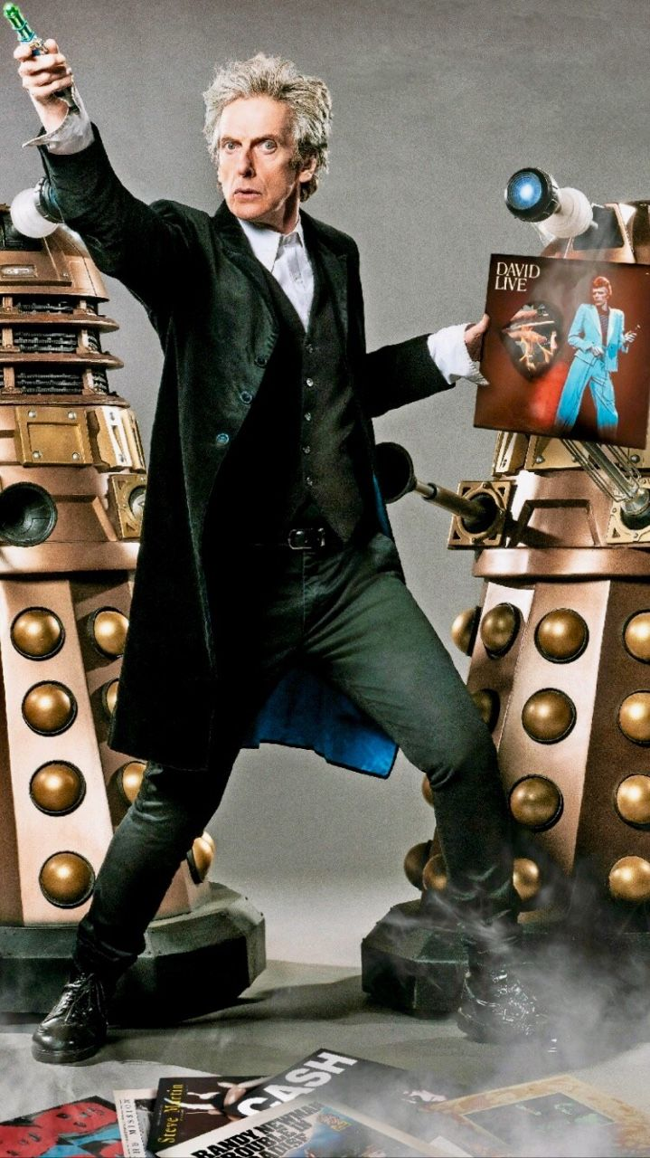 """The Thin White Doc and The Daleks. """"Peter Capaldi in Q Magazine """""""