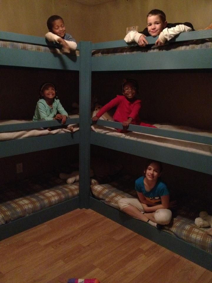 The Hexabed my hubby built! SUPER cool!! So proud of him!! The kids LOVE these beds already!