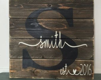 Last name sign Custom slatted wood sign Family by SweetSignsOfLife