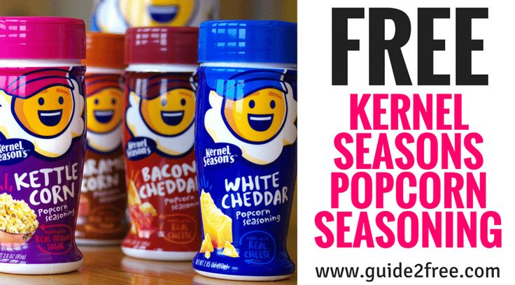 GetFREE Kernel Seasons Popcorn Seasoning! Kernel Seasons is looking for some lucky superfans who want to helpthem spread the word about Kernel Season's to join a special Facebook VIP group! Perks include FREE product, exclusive insight into our latest flavor/creation consideration and more.