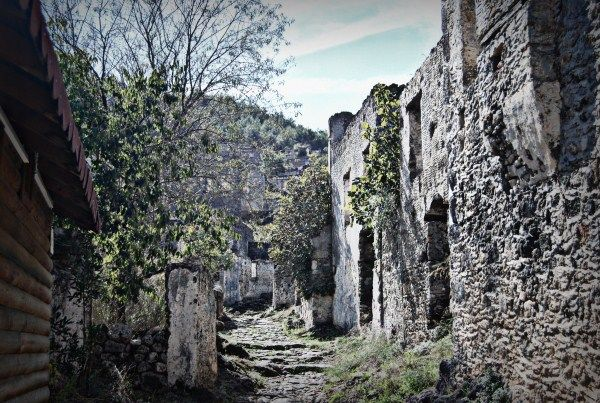 The ghost village of Kayakoy - more info here http://turkishtravelblog.com/the-ghost-village-of-kayakoy/