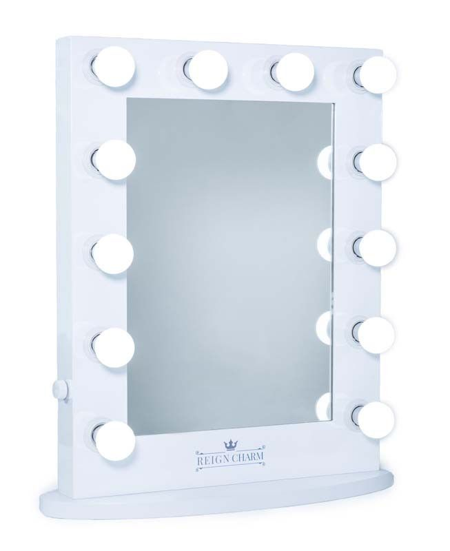 The MovieStar Hollywood Vanity Mirror, 12 LED Lights, Dual Outlets